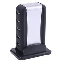 Wholesale 7 Port High Speed USB HUB AC Powered Adapter Cable UK US EU Plug Optional for Computer C1082