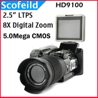 Wholesale Protax POLO HD9100 P HD quot LTPS LCD X Digital Zoom MP Digital Video Camera Camcorder DV