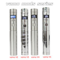 Wholesale For Christmas VAMO series V2 V3 V4 V5 Variable Voltage Mods Electronic Cigarette LCD Display Lava tube for Battery