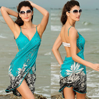 Wholesale 2014 New Sling Beach Wear Dress Women s Sarong Summer Bikini Cover ups Wrap Skirts Towel Open Back