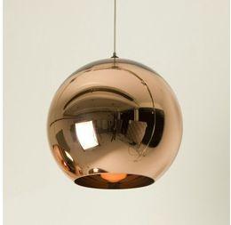 Dia 40cm Copper Shade Mirror Ball Pendant Light,Dining room Glass Pendant lamp By Tom Dixon Design