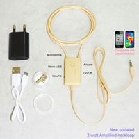 Wholesale 3 watt amplified induction neckloop with magnet earpiece