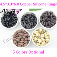 Wholesale New arrival jar Micro Copper with Silicone micro Ring pipe Beads i tip Hair Extension Tools colors optional
