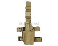 Cheap Popular Exercise Equipment Tactical Universal Drop Leg Left Hand Holster Velcro Strap Buckle Molle Pouch Tan Color !