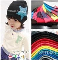 beanies with visors - Han edition in the spring and autumn winter with the five star turtleneck cap baby beanie baby hat children s hat