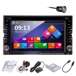 Wholesale Double Din In Dash Deck Car DVD Radio Player quot GPS Digital Touch Screen BT iPod Stereo Bluetooth In Dash Reverse Camera