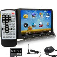 Wholesale car dvd GPS Navigation Car Stereo DVD CD Player Bluetooth BT TV iPod iPhone HD Radio DVB T ISDB T Digital TV CAMERA antenna SD GPS map