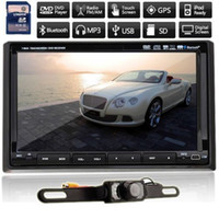 Wholesale FREE Camera GPS MAP Universal DIN quot In Dash Car DVD Player Stereo GPS NavigatioUSB Bluetooth IPOD TV touch screen Auto Radio FM Headunit