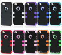 Wholesale Robot in Hybrid Combo Silicone Hard Heavy Duty Armor Case Cover For iPhone C iPhone S S Samsung Galaxy S5