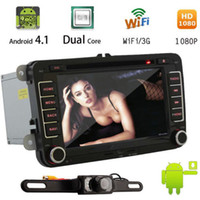Wholesale car dvd Latest Capacitive Multi Touch Pure Android quot Car GPS DVD Player For VW Volkswagen Golf G WIFI Head Unit TV Radio Bluetooth