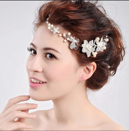 Silver Pearl Bridal Combs Blossoms Brides Cluster Tiara Garden Wedding Bridal Hair Accessories Birde Girl Headwear Bridal Hair Accessories