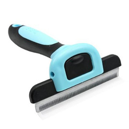 Wholesale Large Dog Removal Comb Brush Pet Grooming FUR DeShedding Shearing Tool Rake for long hair dog