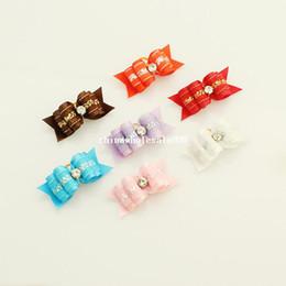 dreambows Handmade Small dog accessories Lace rhinestones Ribbon Bow #db1005 Bows dog, Puppy supplies.