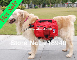Wholesale Large dog backpack pet bag folding dog bowl wellsore backpack