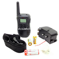 Wholesale 100LV Level meter Electronic Shock Vibra LCD Display Remote Control Pet Dog Training Collar DR for dog