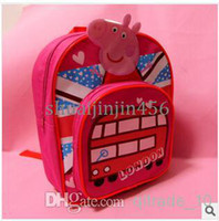 Cheap Wholesale - 2014 new peppa pig bags baby girls boys school bag George pig Children Backpack school bag cartoon backpack kids bags frozenC4 1