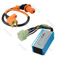 Cheap 1pc Performance 6 pin Racing CDI Box +Ignition Coil For GY6 Scooter Moped 50CC 150CC