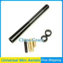 Wholesale Universal Black Carbon Fiber Short Car Aerial Mini Antenna Fit Mini Cooper S JCW R55 R56 R57 R60