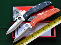 Wholesale Promotion New Spyderco C10 PGYW knife Tactical Folding Knife VG Blade FRN Handle outdoor camping survival knives