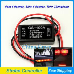 Wholesale 12V Car Flash Strobe Controller Flasher Module for LED Additional Brake Lights Stop Lights Motorcycle Brake Light Bulbs