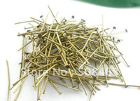Wholesale Ship Free mm Head Pins jewelry findings antique bronze tone