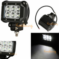 Cheap 4X 4WD 18W Cree LED Work Light Pickup 4x4 12V 24V car off-road light Van Camper SUV ATV Spot Beam Driving Wagon pick-up UTV