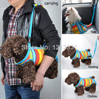 bag carrier pet - 2014 New Hot Sale Colorful Multi Functional Bag For Carrying out Dog Backpack Pet Carrier Canvas Cloth dog harness