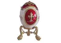 Wholesale Russian faberge style egg trinket box bejeweled egg jewelry box Russian crafts