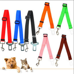 Wholesale Adjustable Car Vehicle Safety Seatbelt Seat Belt Harness Lead Cat Dog Pet Strong carrier Auto traction leads Carriers Seat Belt