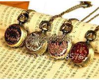 Wholesale Vine style Small size Elephant drop design pocket watch Pendant necklace