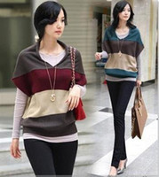 Wholesale Fashion striped sweater women cardigan pullover Sweaters for women Hot selling colors SW6869