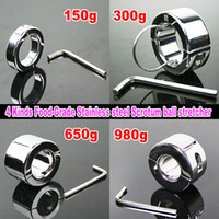 Cheap 4 kinds stainless steel Ball Stretcher Male Scrotum Bondage gear Adult Sex Toys Weight Testicle Stretcher Ball