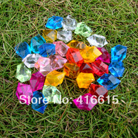 Cheap 100 Pcs Lot,Gardening Supplies,Acrylic Crystal Colorful Stone Decoration,Acrylic Flower Hydroponic,Bonsai Supplies