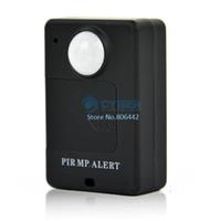 Wholesale PIR MP Alert Infrared Sensor Alarm Anti theft Motion Detection GSM Alert Black