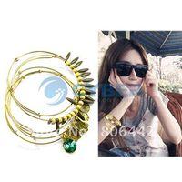 Cheap Women Fashion Bohemian Wooden Beads Vintage Charm Bracelet Bangle 5pcs Set Gift Free Shipping