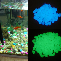 Cheap 100pcs lot Nice Glow in the Dark Pebbles Stones Fish Tank Aquarium Home Garden Decor