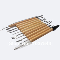 Cheap New Arrival 11 pcs Pottery Clay Sculpture Carving Tool Set Made of Wood and Metal Great