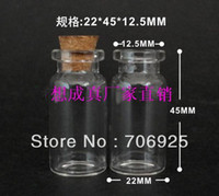 Cheap Wholesale free shipping 8ml Clear Glass Wishing Bottles Vials With Cork For card Refined oil bottle 30pieces LOT