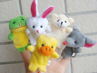 Cheap Baby Plush Toy Finger Puppets Tell Story Props(10 animal group) Animal Doll Kids Toys Children Gift