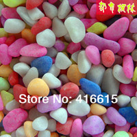 Cheap 300g Lot,Multicolour stones,Color Stones Bonsai Decoration Fish Tank Supplies,Flower POTS Decorations,Garden Decoration Products