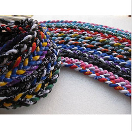 Wholesale NEW Ropes Tornado Titanium Sport Necklaces X45 Athletes Energy Triple Necklace flat clasp GE