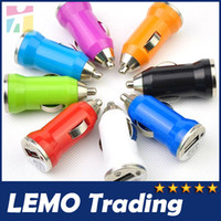Wholesale Colorful Bullet Mini USB Car Charger Universal Adapter for iphone S S C G S Samsung Galaxy S3 S4 S5 Cell Phone PDA MP3 MP4