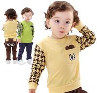 kids sweat suits - 2014 children autumn clothing Kids Baby Long sleeve T Shirt Harem Pants Boy cotton Sets cartoon sweat suit Sport Suit