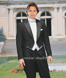 Black White Wedding Suit Red Tie Canada Best Selling Black White