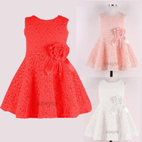 Wholesale Girls Dresses Baby Girl Party Dresses girls wedding Dress cute baby girl clothes Lace flower tutu dress design for kids baby clothes