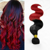 Cheap New hot sale 2014 brazilian malaysian peruvian indian body wave 2 tone ombre virgin hair weave ombre hair weft colorful hair extensions