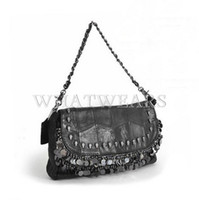 Cheap Free Shipping Womens Vintage Designer Skull Tassel Handbag Shoulder Bag Clutch Purse [6 10-0664]
