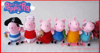 Wholesale Big Discount New CM Peppa Pig George Pig Ballerina Peppa Pirates george Plush Toy Doll Peppa pig Family Set of Melee
