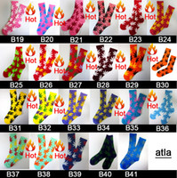 Cheap 200pcs=100pair Cotton FREE FEDEX mixed color men diamond fuck Maple Leaf weed Thicken hiphop street Skateboarding Sport Socks 200pcs lot