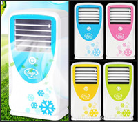 Wholesale USB Stereo Air Conditioning Fan Large wind Mini Air Conditioners USB Rechargeable Fan Summer Fan With retail Box
